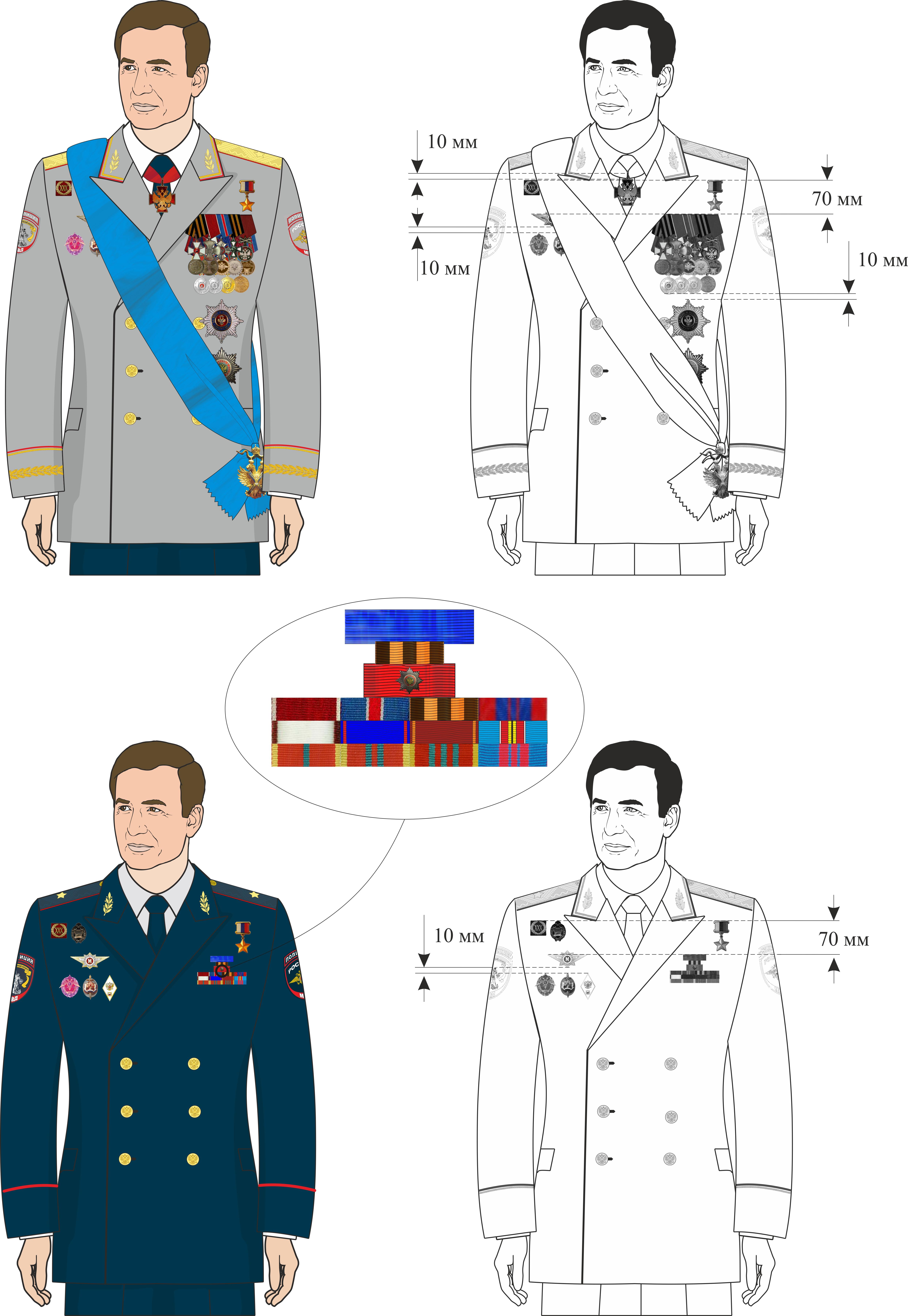 какие как развешивать медали и знаки отличия предлогаем